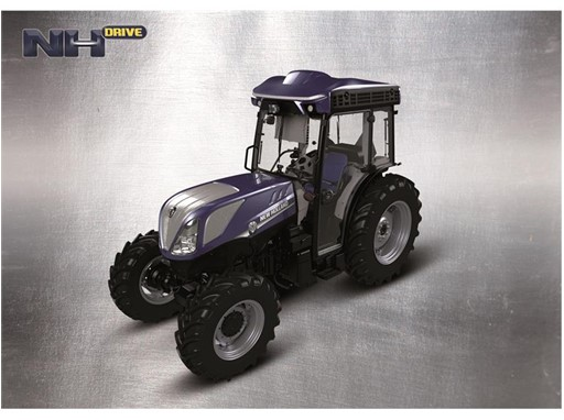 NHDrive autonomous T4.110F vineyard tractor