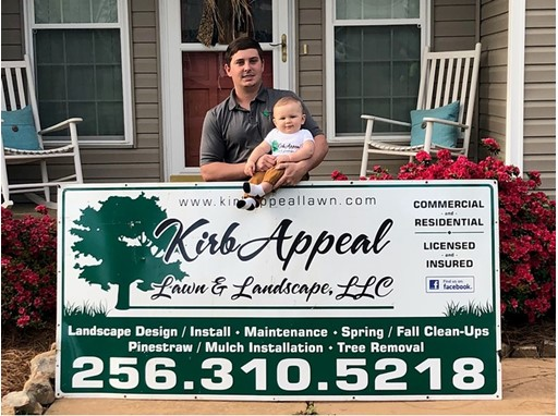 CASE Kickstart Winner Austin Kirby with his son, Rance Kirby.