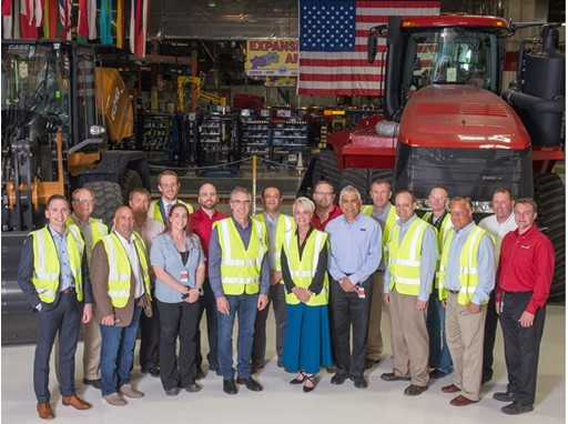 North Dakota Governor Doug Burgum and Labor Commissioner Michelle Kommer Visit CNH Industrial Manufacturing Facility