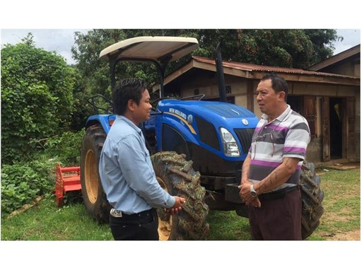U Sai Maung Kyan, New Holland TT4.90 tractor's owner