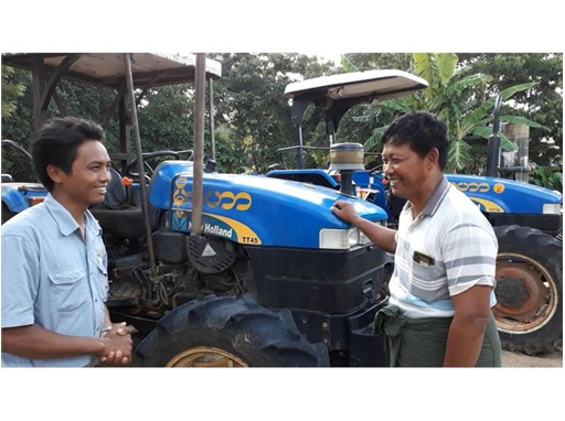 U Htay Lwin, New Holland TT45 tractor's owner.