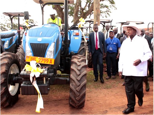 New Holland Agriculture delivers 110 tractors to Uganda
