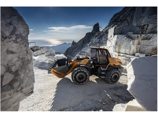 The CASE methane powered concept wheel loader delivers oustanding productivity in a sustainable package