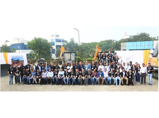 Representatives from CASE Construction Equipment with guests of Made in India event