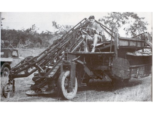 Harold Toft and the first harvester