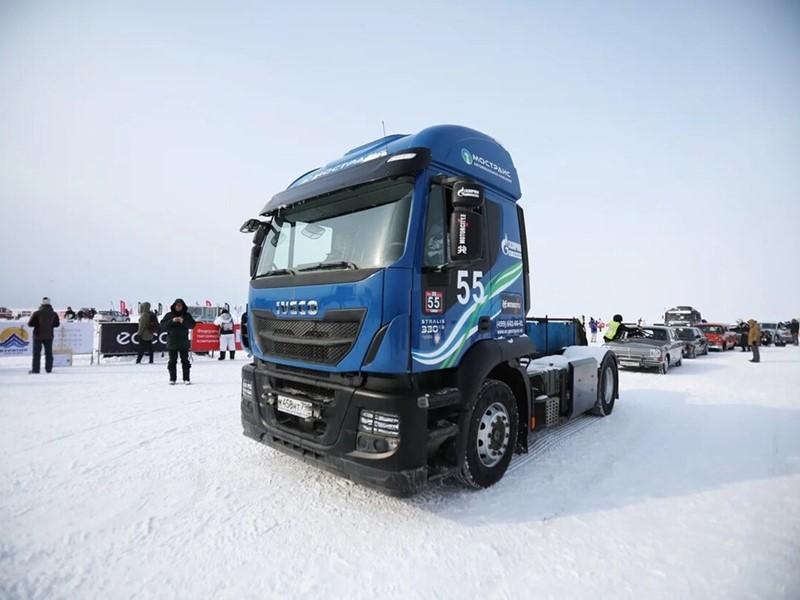 Тягач IVECO Stralis NP 460, работающий на СПГ, установил рекорд скорости в экстремальных условиях Сибири