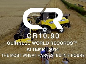 New Holland CR10.90 Guiness World Record 2014: The Most Wheat Harvested in 8 Hours