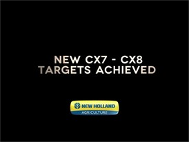 New Holland CX7 and CX8 Elevation Combine Harvesters