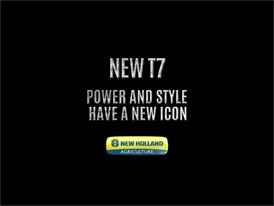 New Holland T7 tractor: Power and Style have a new Icon