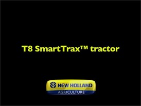 New Holland Agriculture T8 SmartTrax™ Tractor