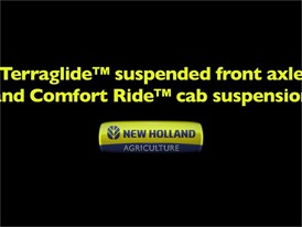 Terraglide™ Suspended Fron Axle and Comfort Ride™Cab Suspension