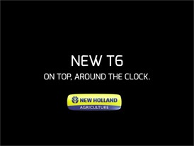 New Holland Agricultue New T6: On Top, Around the Clock