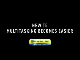 New Holland Agriculture New T5: Multitasking Becomes Easier