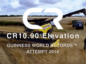 New Holland CR 10.90 Guinness World Records attempt