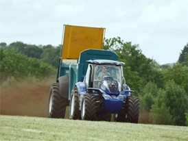 New Holland Agriculture Methane Powered Concept Tractor Informational Video