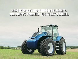 New Holland Agriculture Methane Powered Concept Tractor Show Reel