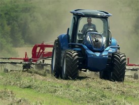 New Holland Agriculture Brand Methane Power Concept Tractor Video
