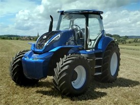New Holland presents its Concept Tractor powered by methane and its vision for a sustainable future of agriculture at Farm Progress Show