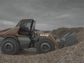 Rushes - CASE Methane Powered Wheel Loader Concept - ProjectTETRA - Wood Yard