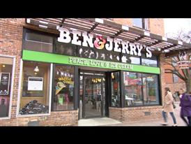 Ben & Jerry's Celebrates Free Cone Day Broll