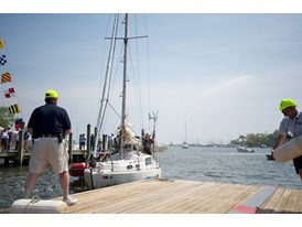 Matt Rutherford Arrives in Annapolis