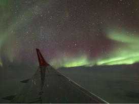 Video Available: The Northern Lights…Experienced from 36,000 Feet for the First Time in Canada