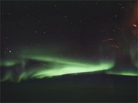 Unedited footage of Northern Lights from Aurora 360 flight in Yukon