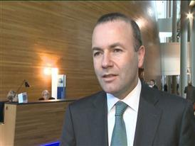EVP Gruppe Vorstand Manfred Weber kommentiert ueber einem Vorschlag der Europaeische Kommission