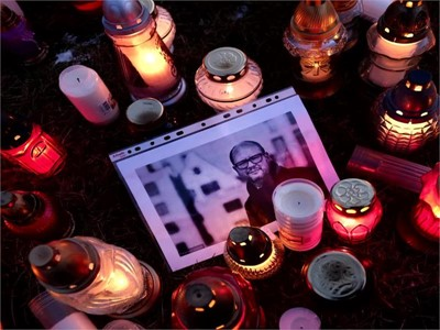 """""""I don´t want to shout, but I cannot remain silent"""",says the widow of slain Gdansk Mayor Pawel Adamowicz, speaking at the European Parliament"""