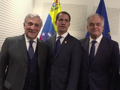 MEPs support Juan Guaidó in the European Parliament