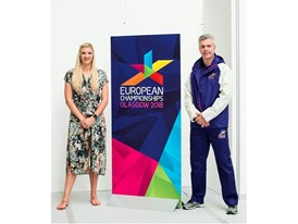(L to R) Rebecca Adlington OBE and David Gilmour (2018 Volunteer)