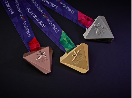 2018 European Championships medals
