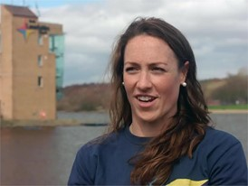 Karen Bennett on European field at Glasgow 2018