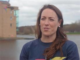 Karen Bennett on Strathclyde Loch