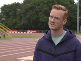 GBR Greg Rutherford talks about Usain Bolt's world record and links to the rich athletic history of Berlin
