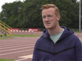 GBR Greg Rutherford talks about his greatest career moment and then links to Berlin 2018