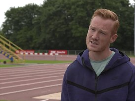GBR Greg Rutherfords talks about his hopes for Berlin 2018