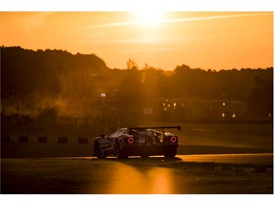 The 69 Ford GT at sunset at Le Mans