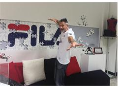 Olympic Volleyball Champion Andrea Lucchetta Visits the FILA Museum