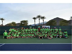 FILA Hosts Junior Tennis Clinic with Sam Querrey at the Indian Wells Tennis Garden
