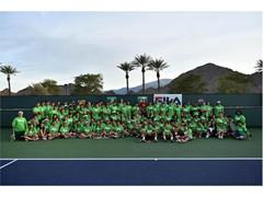 FILA Hosts Junior Tennis Clinic with Sam Querrey at the Indian Wells Tennis Garden