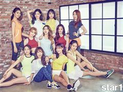 Korean Girl Band I.O.I Sports FILA Korea in New Magazine Spread