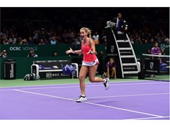 FILA Tennis Athlete Timea Babos Wins WTA Finals Doubles Title
