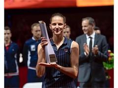 FILA Tennis Player Karolina Pliskova Wins Stuttgart Title