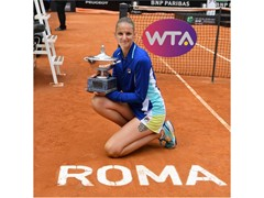 Karolina Pliskova Wins Singles Title in Rome, Ash Barty Captures Doubles Crown