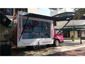 FILA Brings Mobile Gaming Tennis Truck to the Streets of Miami.