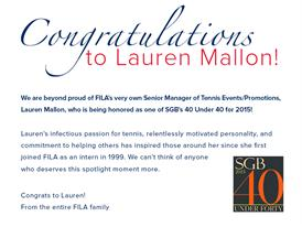 Congratulations, Lauren!