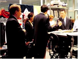 Chinese delegates visit the FILA Museum
