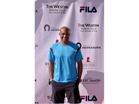 Boris Kodjoe Wears FILA at the 12th Annual Desert Smash Charity Celebrity Tennis Event
