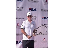 Alan Thicke Wears FILA at the 12th Annual Desert Smash Charity Celebrity Tennis Event